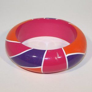 Vintage painted wooden bangle